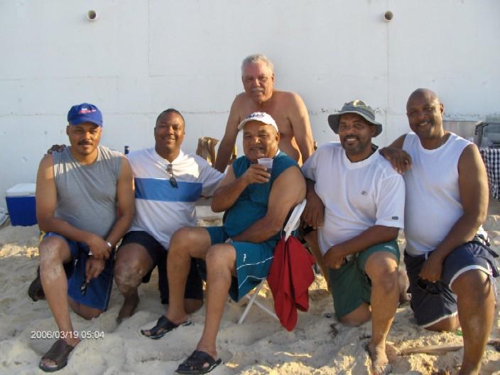 Bahamas Dames Enjoying A Family Day on A Beautiful Bahamian Beach